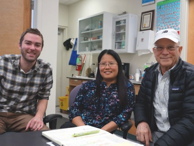 Honoring our friend and late Prof. Jacob Israelachvilli (featured together with Dr. Alex Schrader and Prof. Songi Han in UCSB Current)